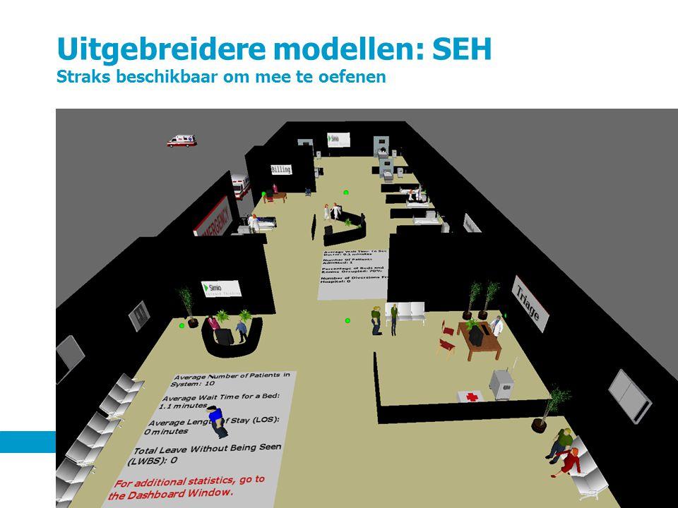 Uitgebreidere modellen: SEH Straks beschikbaar om mee te oefenen 5 september 201260