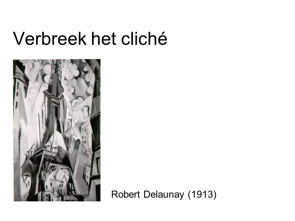 Verbreek het cliché Robert Delaunay (1913)