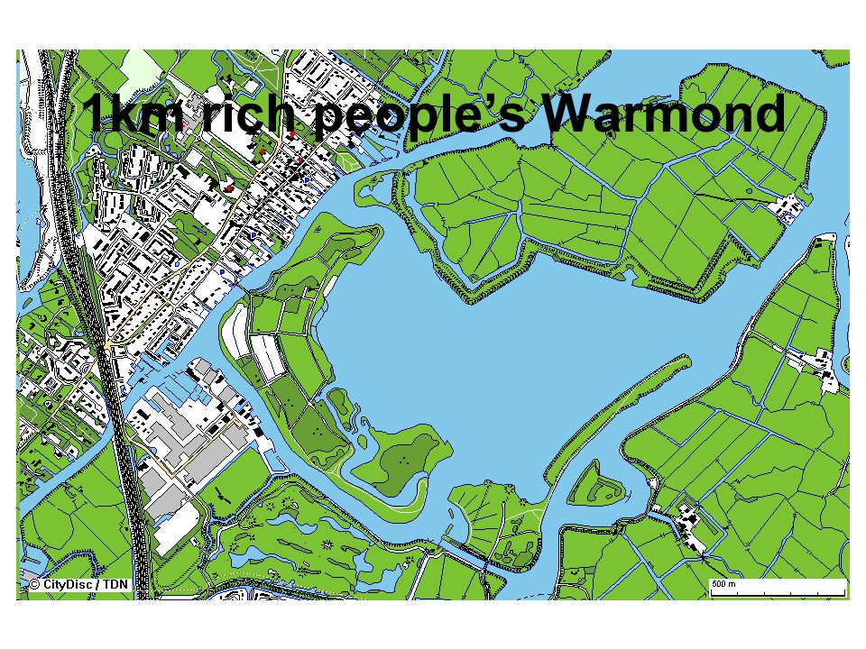 1km rich people's Warmond