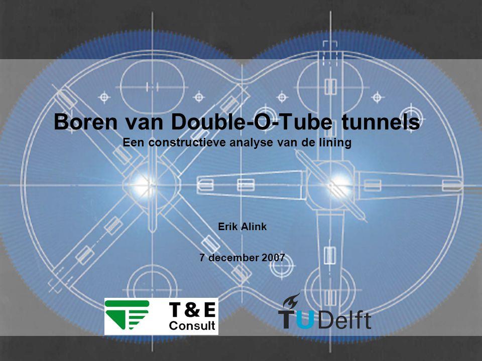 22 Conclusies (1) De vijzelkrachten op de lining van een DOT tunnel zijn ongeveer 15% groter dan bij een ronde tunnel in gelijke situatie De ringwerking van een DOT tunnel onder grondbelasting is, net als bij een ronde tunnel, in grote mate afhankelijk van de stijfheid van de grond en de lining.