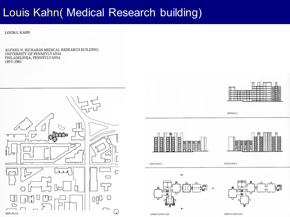 Louis Kahn( Medical Research building)