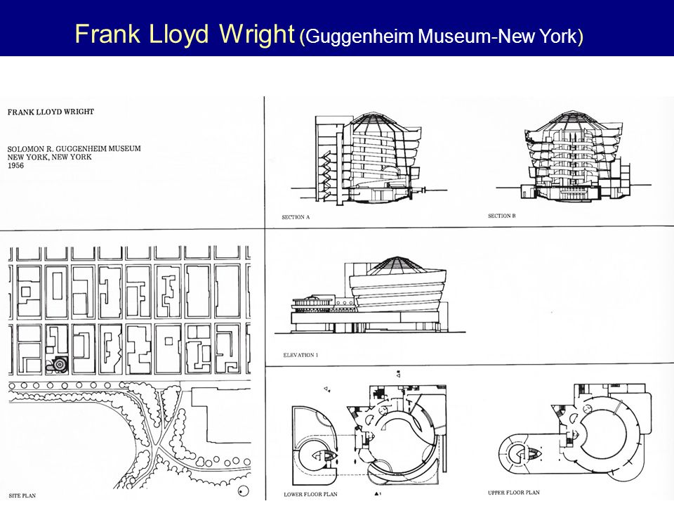 Frank Lloyd Wright (Guggenheim Museum-New York)
