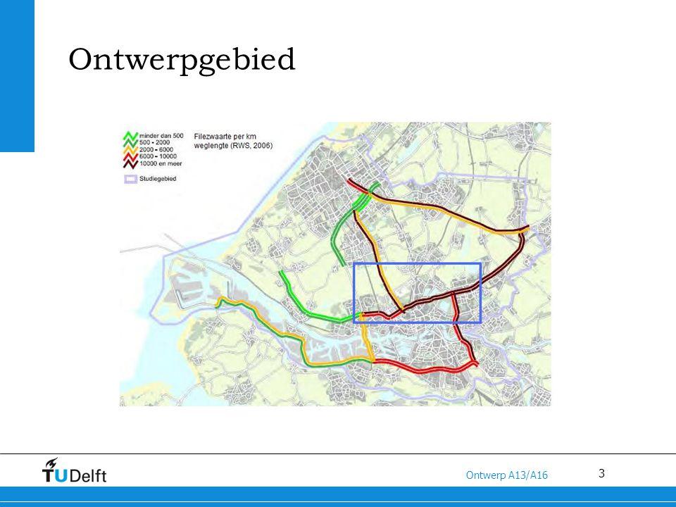 3 Titel van de presentatie Ontwerp A13/A16 Ontwerpgebied