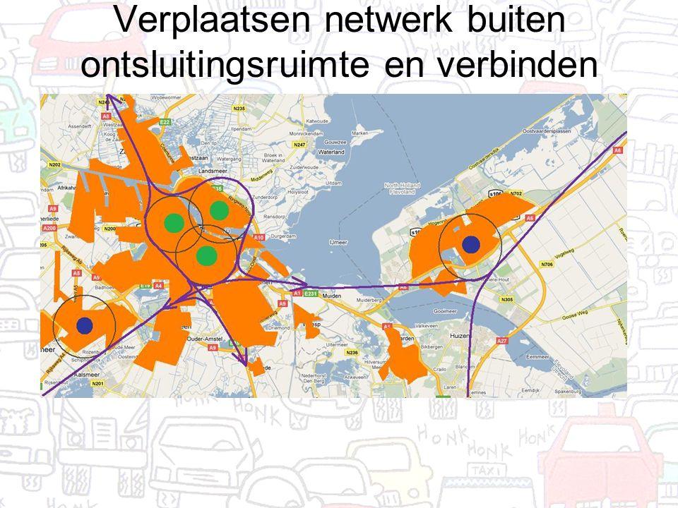 Verplaatsen netwerk buiten ontsluitingsruimte en verbinden