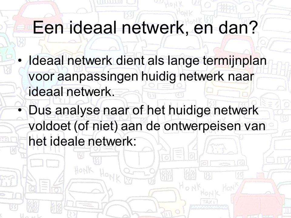 Een ideaal netwerk, en dan.