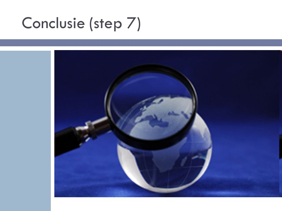 Conclusie (step 7)