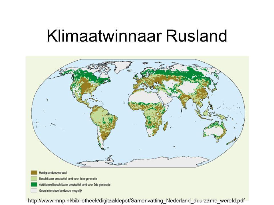 Klimaatwinnaar Rusland http://www.mnp.nl/bibliotheek/digitaaldepot/Samenvatting_Nederland_duurzame_wereld.pdf