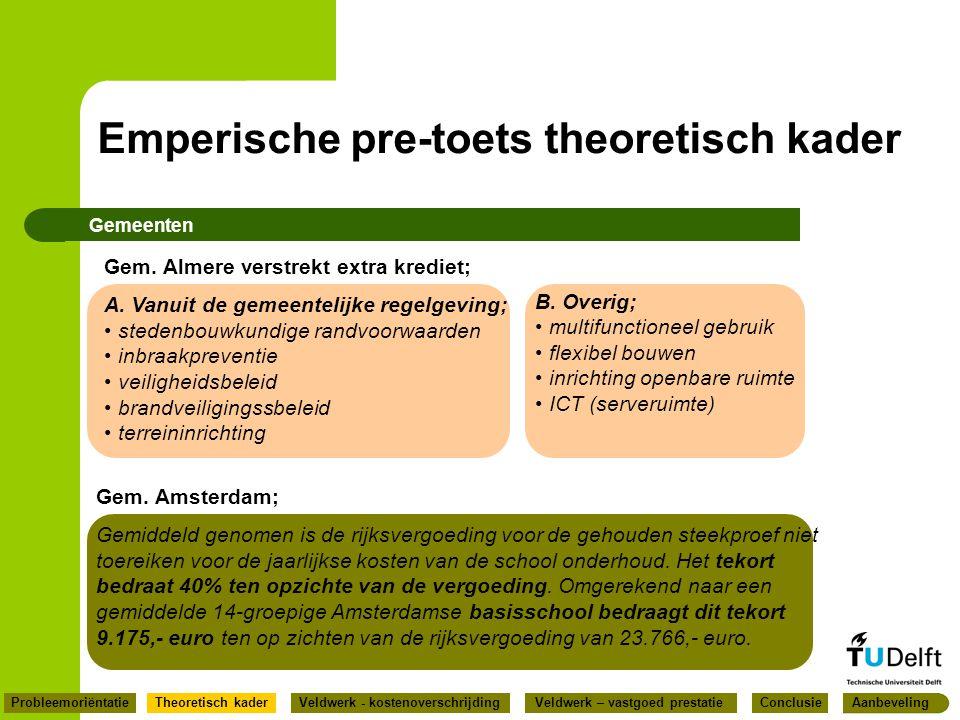 Gemeenten Gem. Amsterdam; Gemiddeld genomen is de rijksvergoeding voor de gehouden steekproef niet toereiken voor de jaarlijkse kosten van de school o