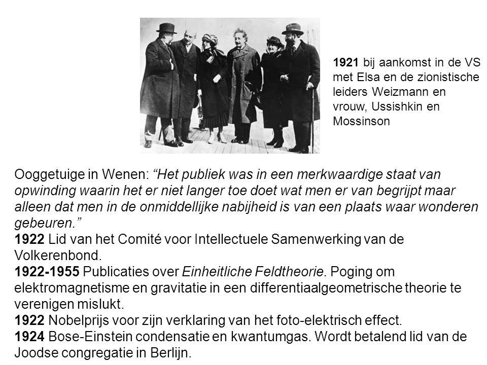 Ooggetuige in Wenen: Het publiek was in een merkwaardige staat van opwinding waarin het er niet langer toe doet wat men er van begrijpt maar alleen dat men in de onmiddellijke nabijheid is van een plaats waar wonderen gebeuren. 1922 Lid van het Comité voor Intellectuele Samenwerking van de Volkerenbond.