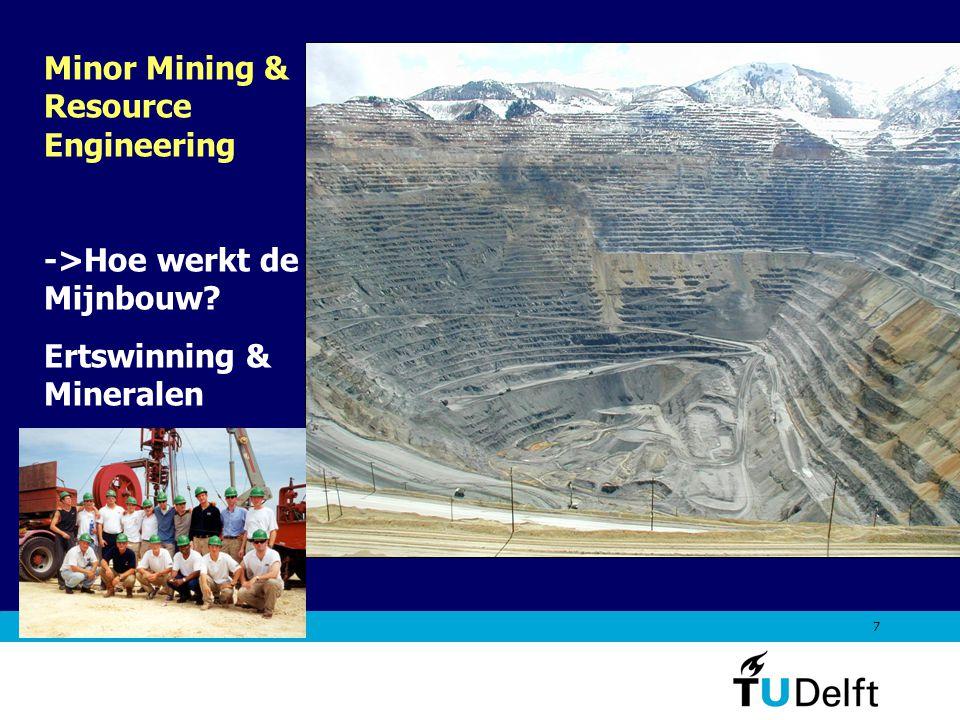 7 Minor Mining & Resource Engineering ->Hoe werkt de Mijnbouw? Ertswinning & Mineralen