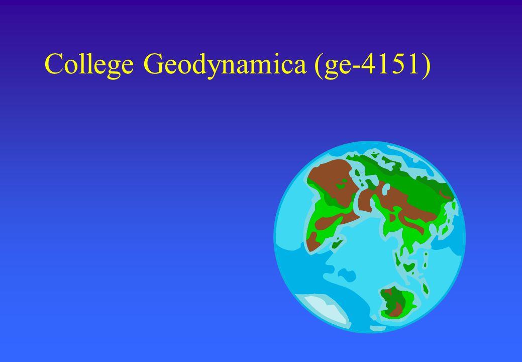 College Geodynamica (ge-4151)