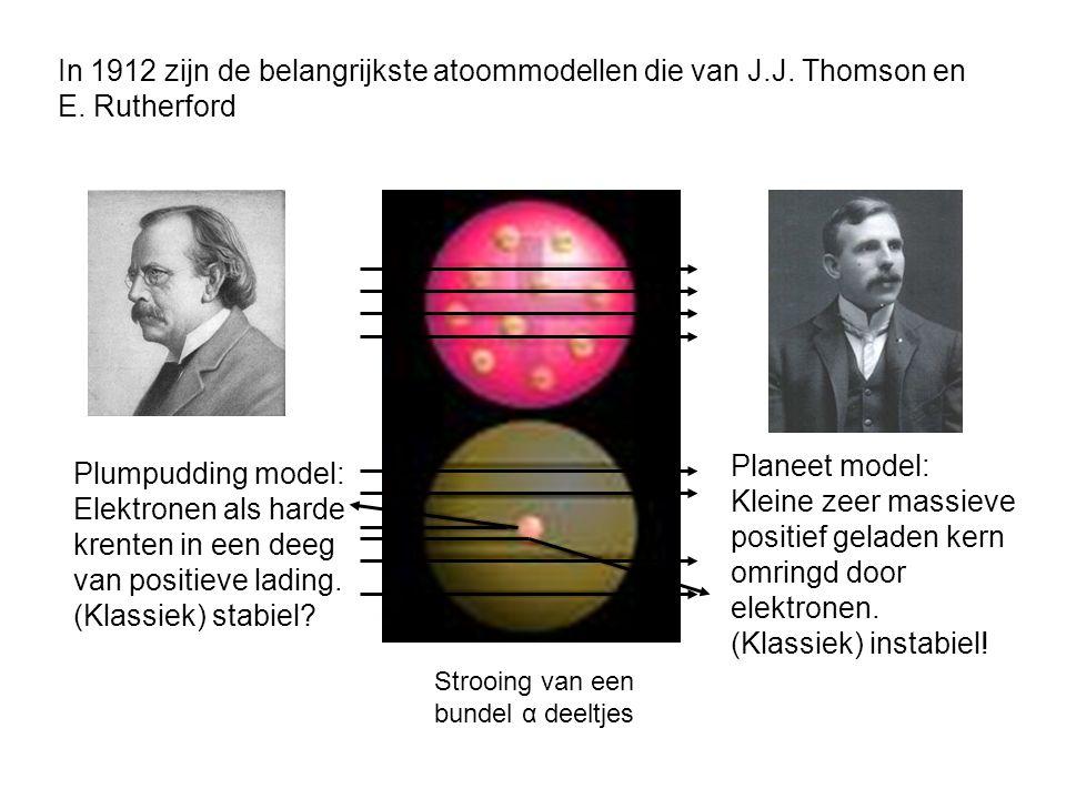 Stark (1913) toont de splitsing van spectraallijnen in een elektrisch veld aan.