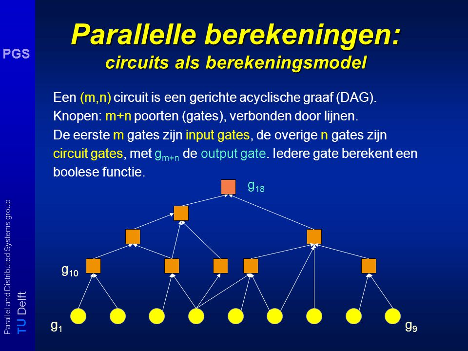 T U Delft Parallel and Distributed Systems group PGS programma voor extrapolatie d e f g e f g h f g h i 1.