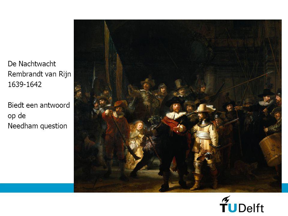 De Nachtwacht Rembrandt van Rijn 1639-1642 Biedt een antwoord op de Needham question