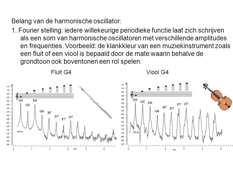 1. Fourier stelling: iedere willekeurige periodieke functie laat zich schrijven als een som van harmonische oscillatoren met verschillende amplitudes