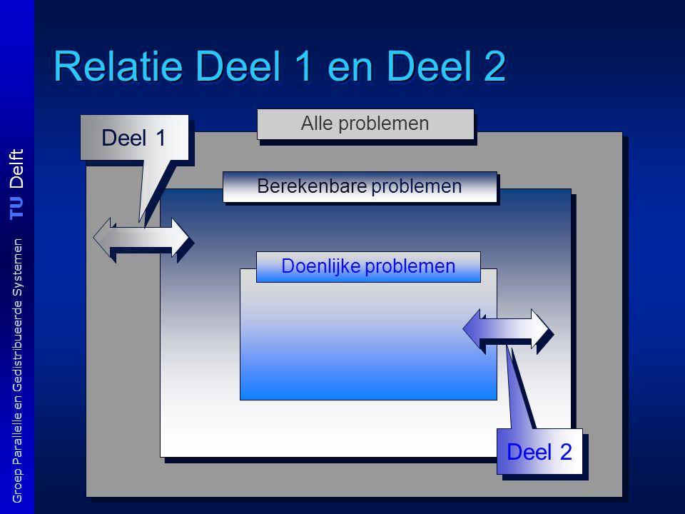 TU Delft Groep Parallelle en Gedistribueerde Systemen Literatuur en studiemateriaal Literatuur B.M.