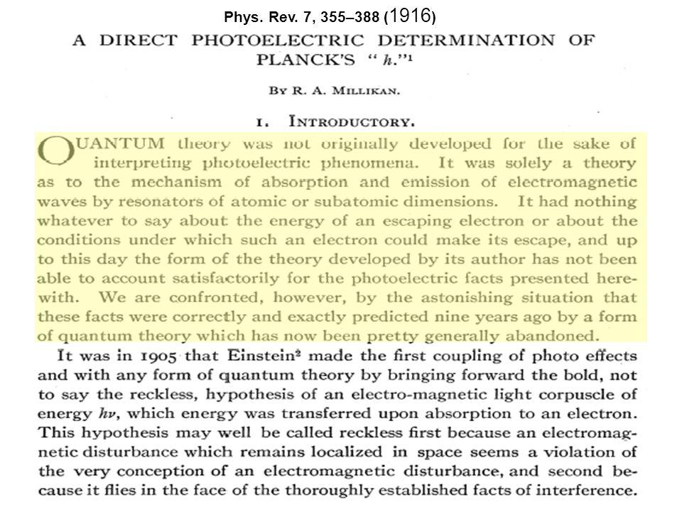 De gevolgen van het wonderjaar E=mc 2 Voor 1905: Thomson 1881 experimenten aan kathodestralen : The effect of electrification is the same as if the mass of the sphere were increased … Poincaré 1900: Elektromagnetische straling is een fictieve vloeistof met een equivalente massa van m=E/c 2.