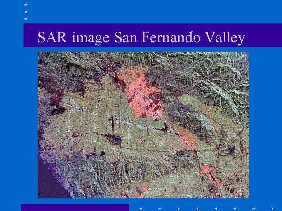 SAR image San Fernando Valley
