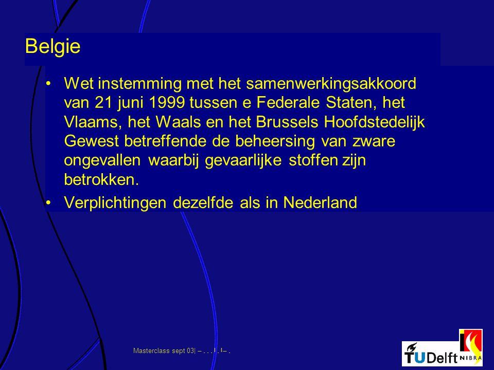 Masterclass sept 03|      Belgie Wet instemming met het samenwerkingsakkoord van 21 juni 1999 tussen e Federale Staten, het Vlaams, h