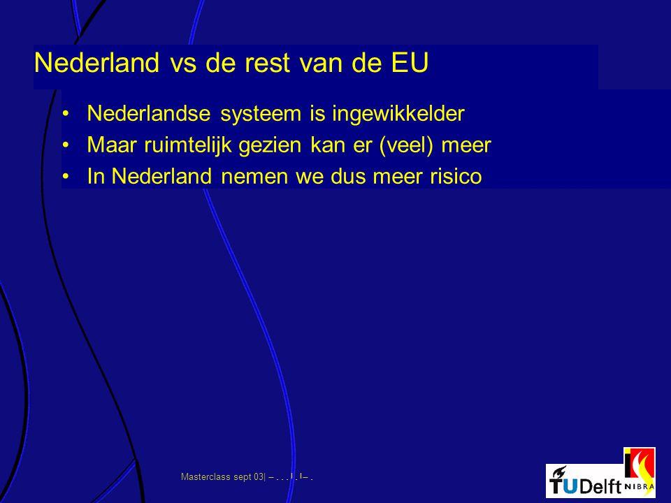 Masterclass sept 03|      Nederland vs de rest van de EU Nederlandse systeem is ingewikkelder Maar ruimtelijk gezien kan er (veel) me