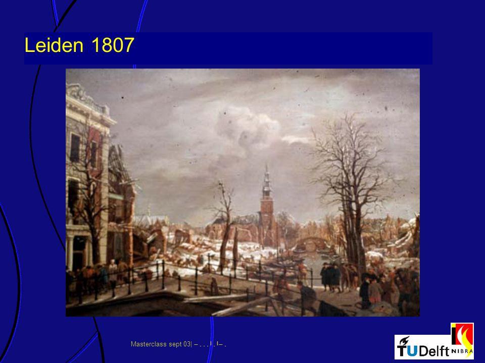 Masterclass sept 03|      Leiden 1807