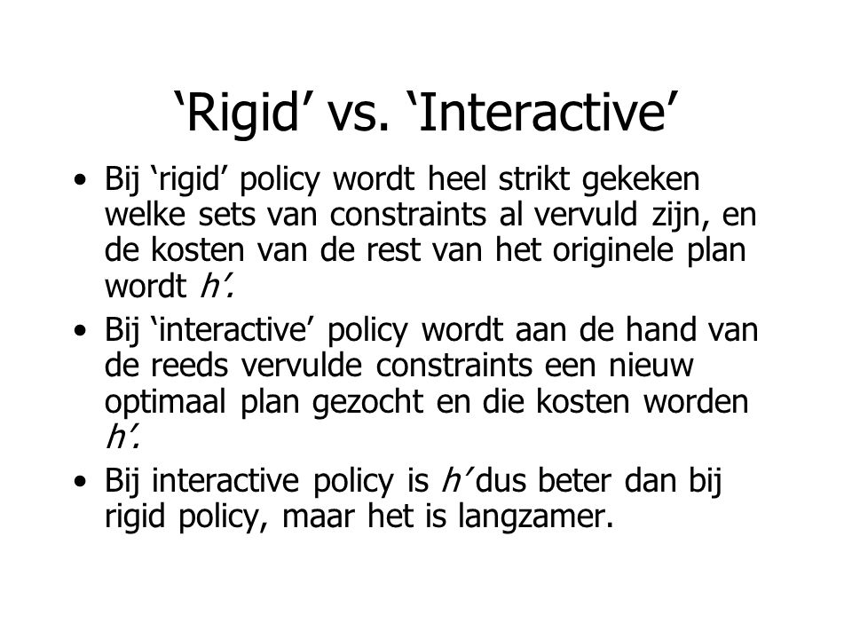 'Rigid' vs.