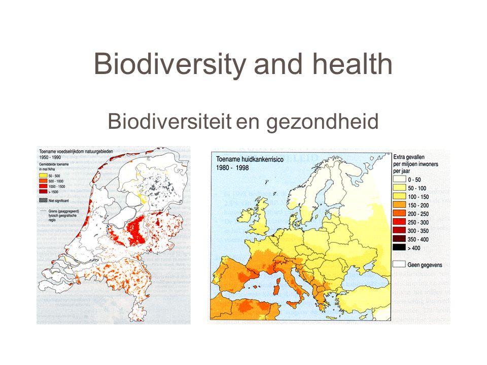Biodiversity and health Biodiversiteit en gezondheid