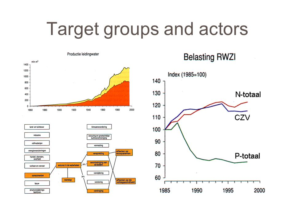 Target groups and actors
