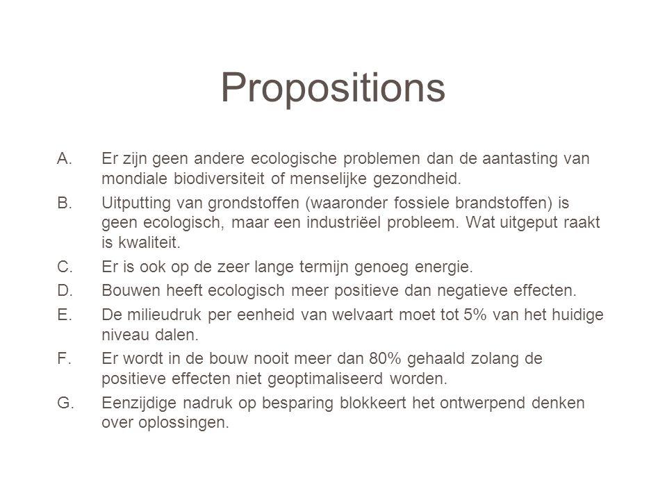 Propositions A.Er zijn geen andere ecologische problemen dan de aantasting van mondiale biodiversiteit of menselijke gezondheid.