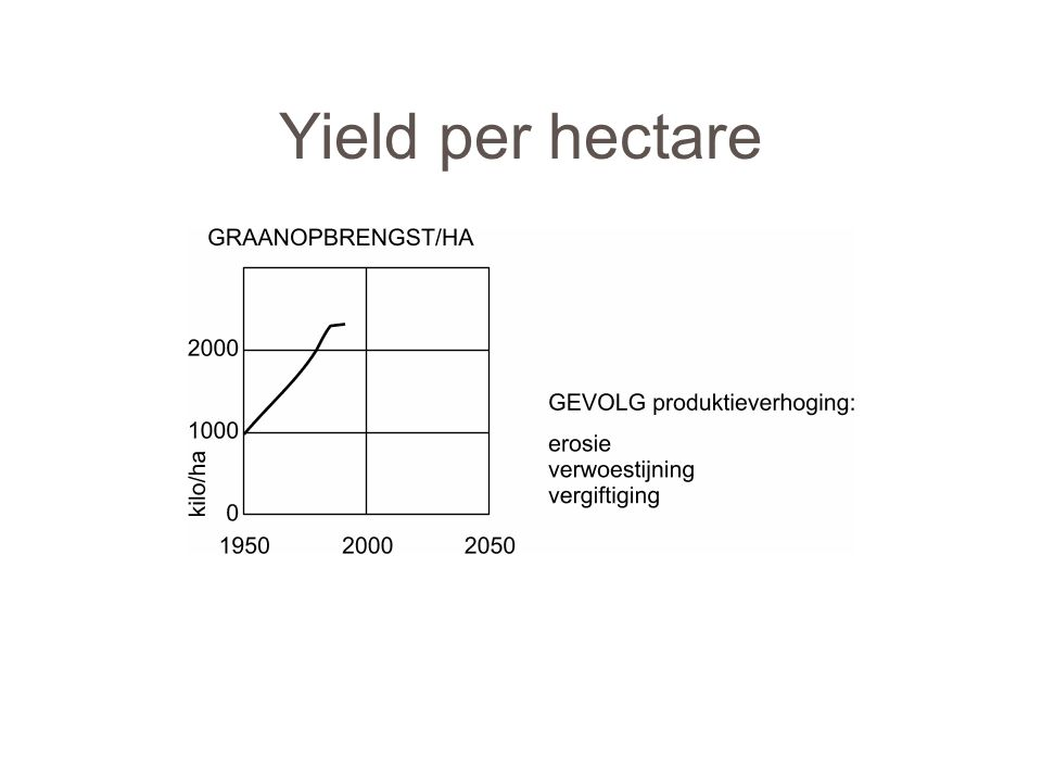 Yield per hectare