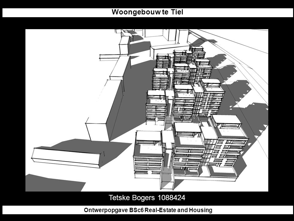 Woongebouw te Tiel Ontwerpopgave BSc6 Real-Estate and Housing Tetske Bogers 1088424