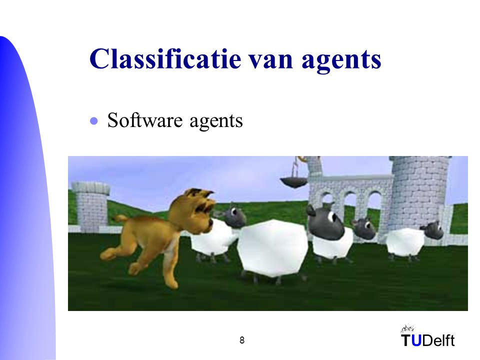 TUDelft 8 Classificatie van agents  Software agents