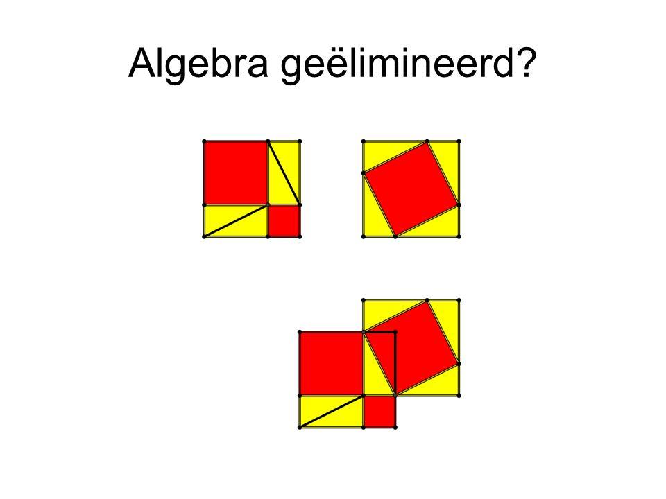 Algebra geëlimineerd?