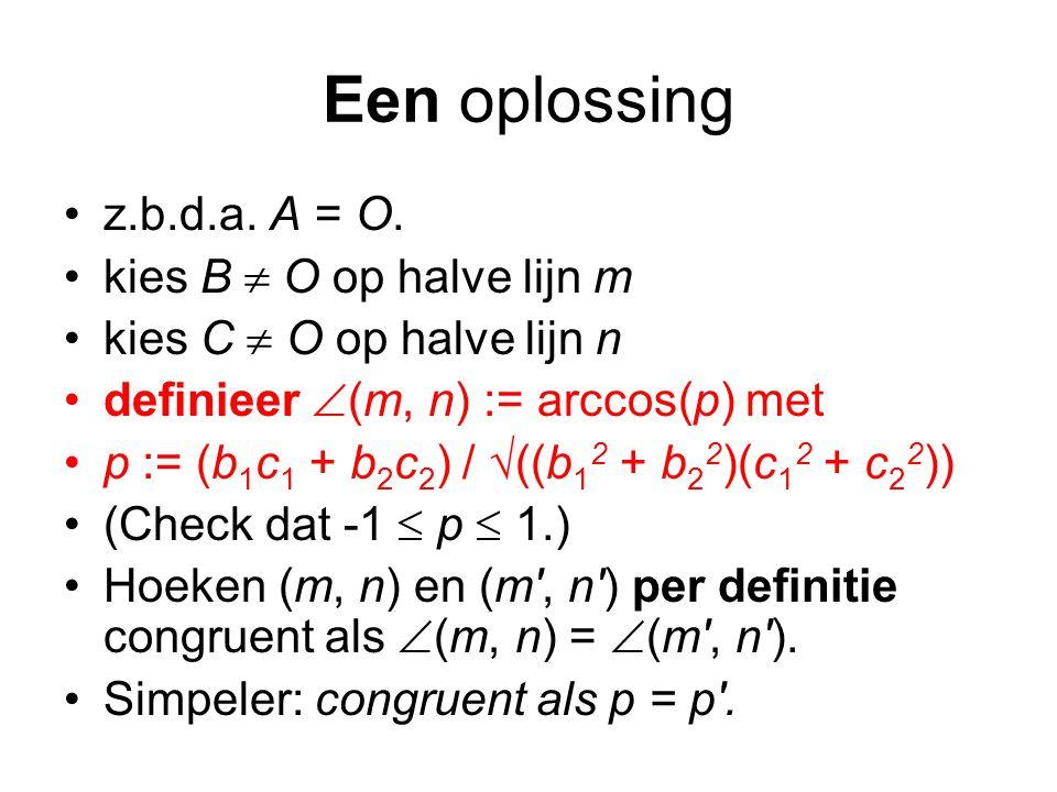 Een oplossing z.b.d.a.A = O.