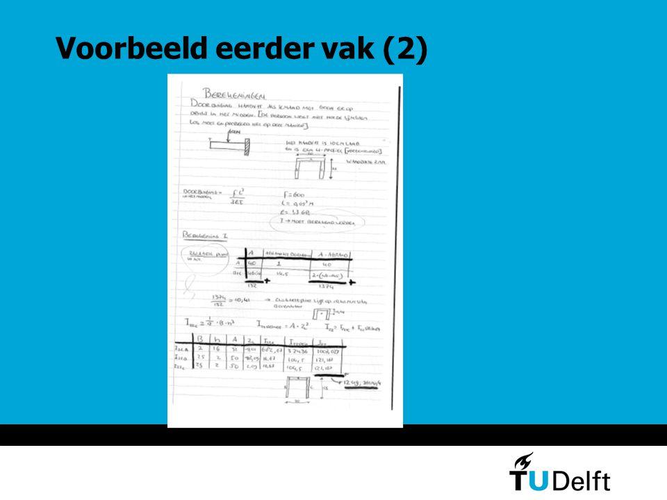 Voorbeeld eerder vak (3) Conclusie TMtool noodzakelijk