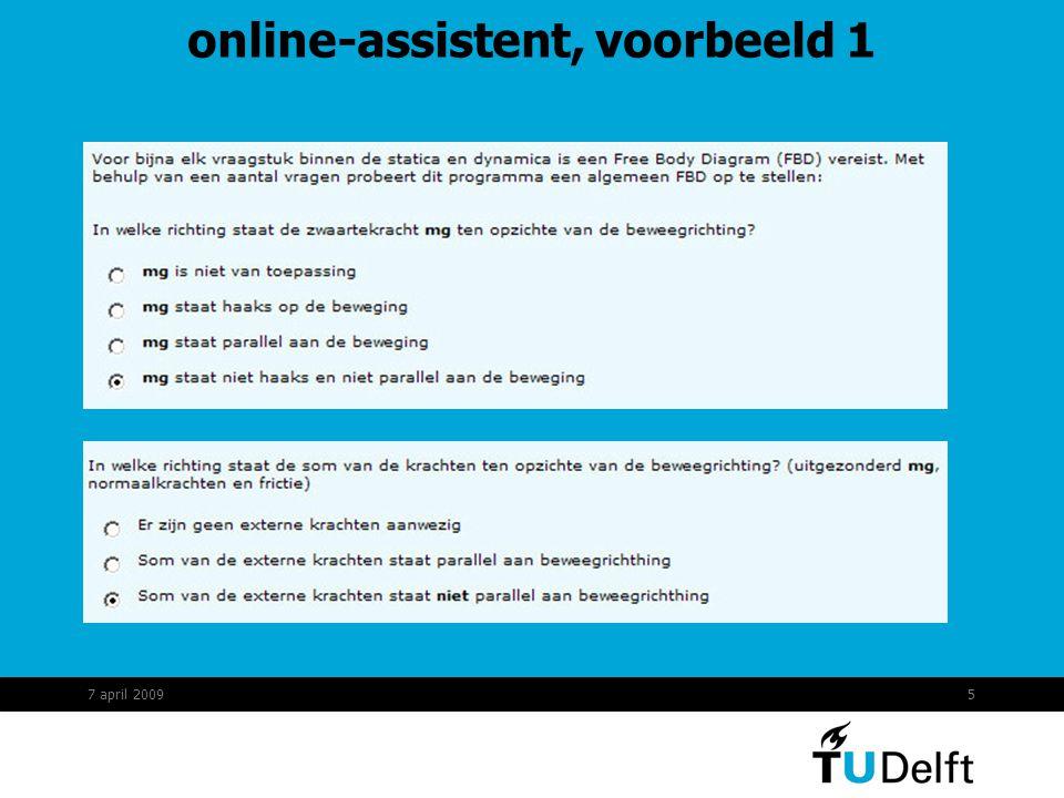 5 online-assistent, voorbeeld 1