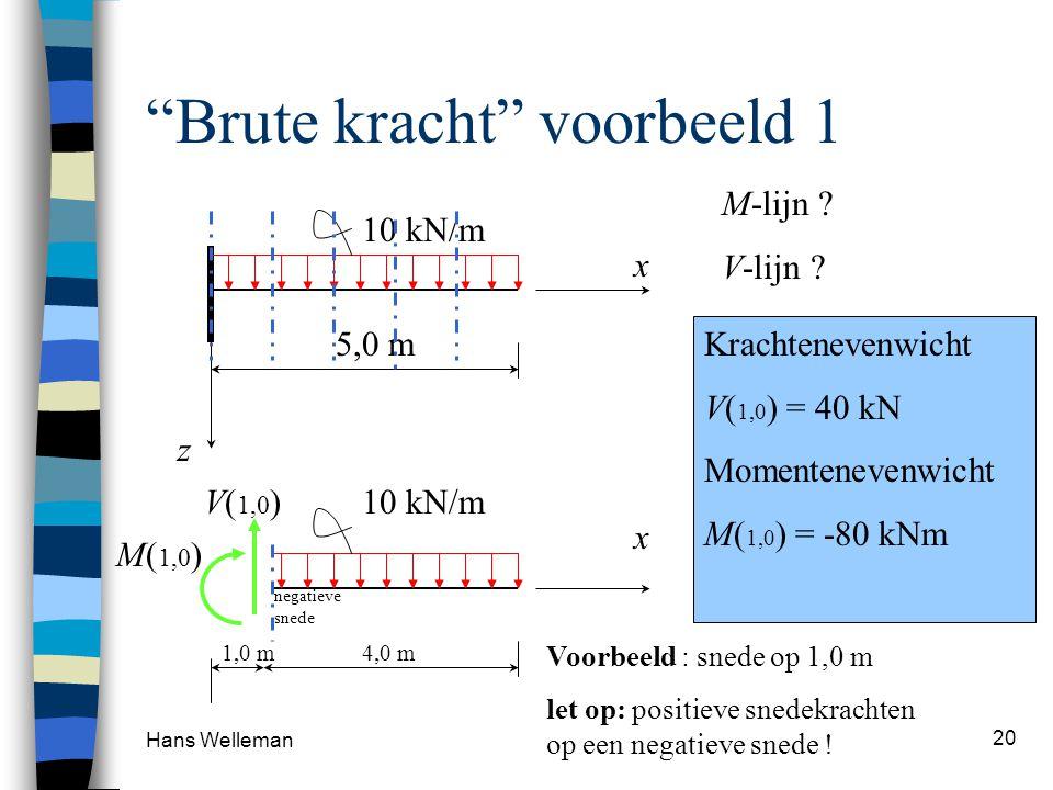 Hans Welleman 20 Brute kracht voorbeeld 1 x M-lijn .