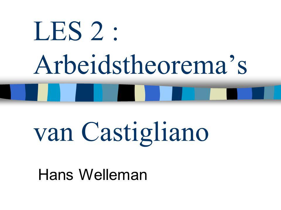 LES 2 : Arbeidstheorema's van Castigliano Hans Welleman