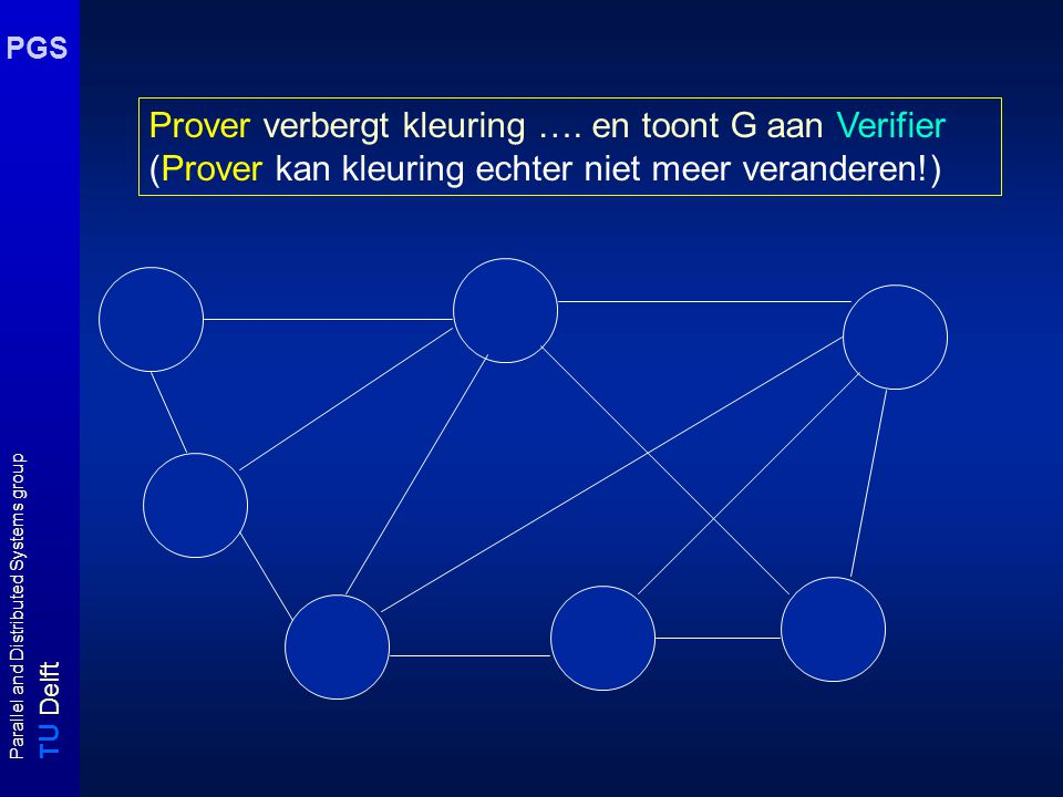 T U Delft Parallel and Distributed Systems group PGS Prover verbergt kleuring ….
