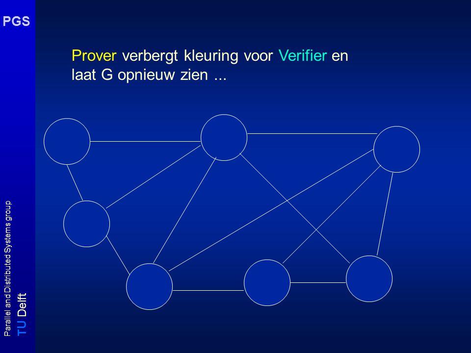 T U Delft Parallel and Distributed Systems group PGS Prover verbergt kleuring voor Verifier en laat G opnieuw zien...