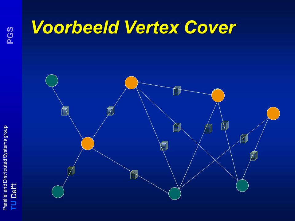 T U Delft Parallel and Distributed Systems group PGS Voorbeeld Vertex Cover          