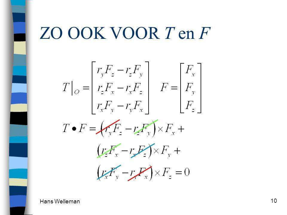 Hans Welleman 10 ZO OOK VOOR T en F