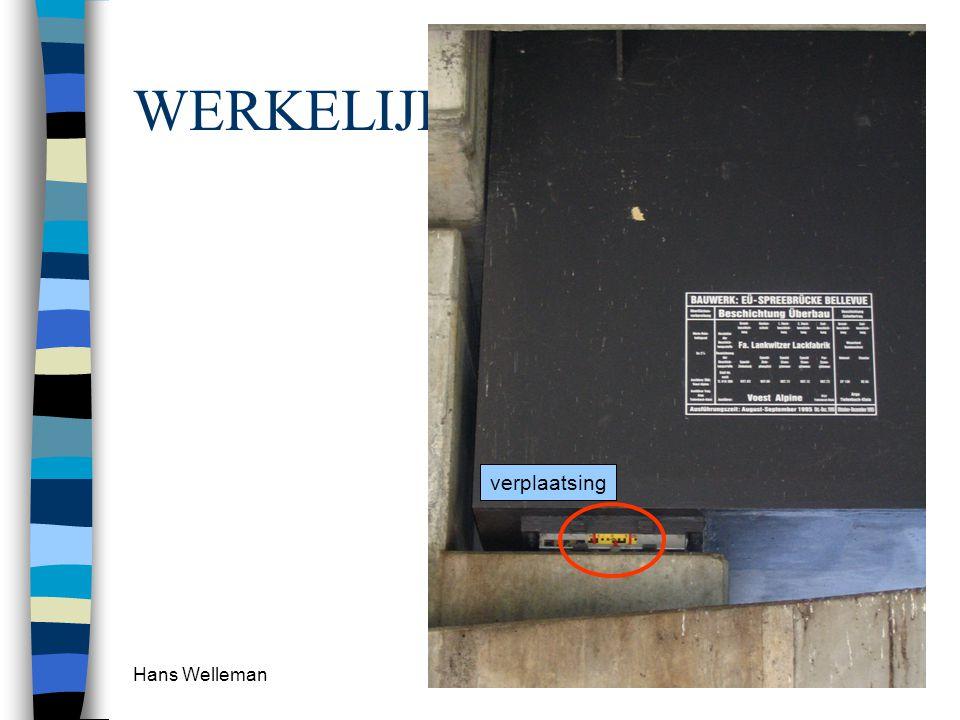 Hans Welleman 20 WERKELIJKHEID verplaatsing