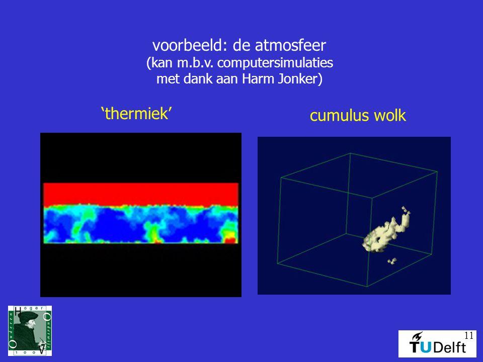 11 voorbeeld: de atmosfeer (kan m.b.v.