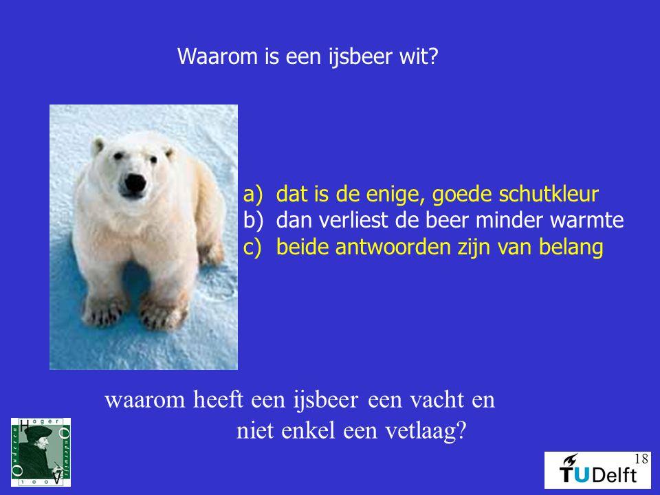 18 Waarom is een ijsbeer wit.