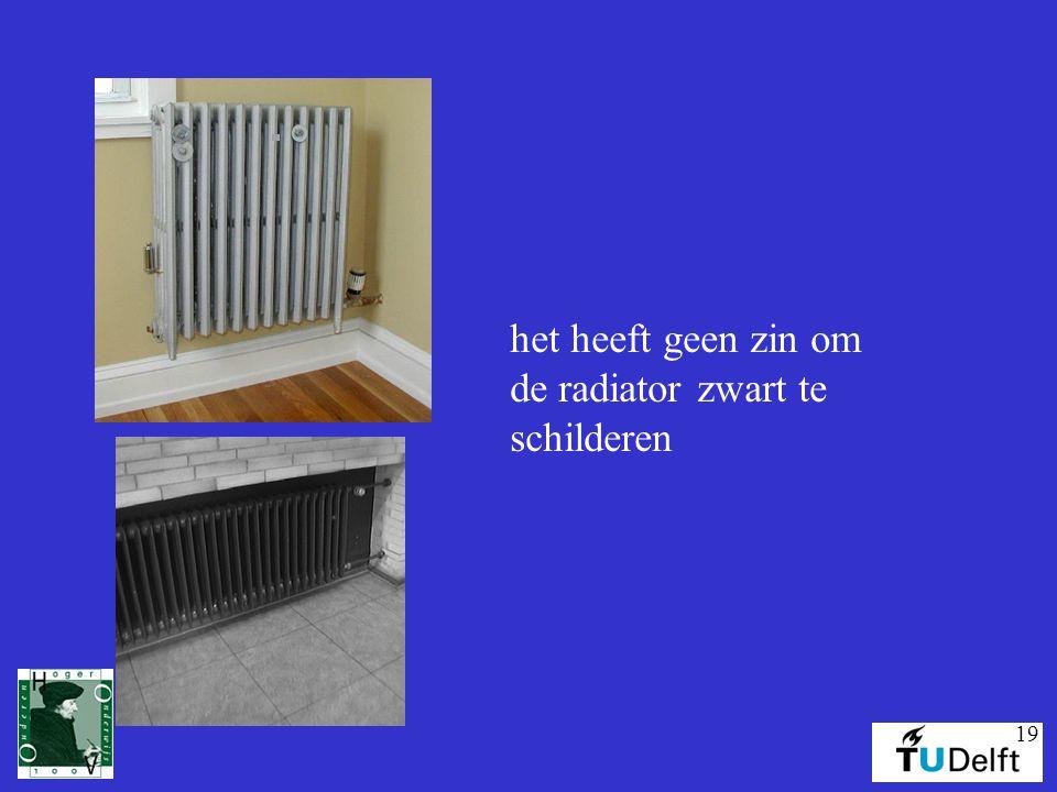 19 het heeft geen zin om de radiator zwart te schilderen