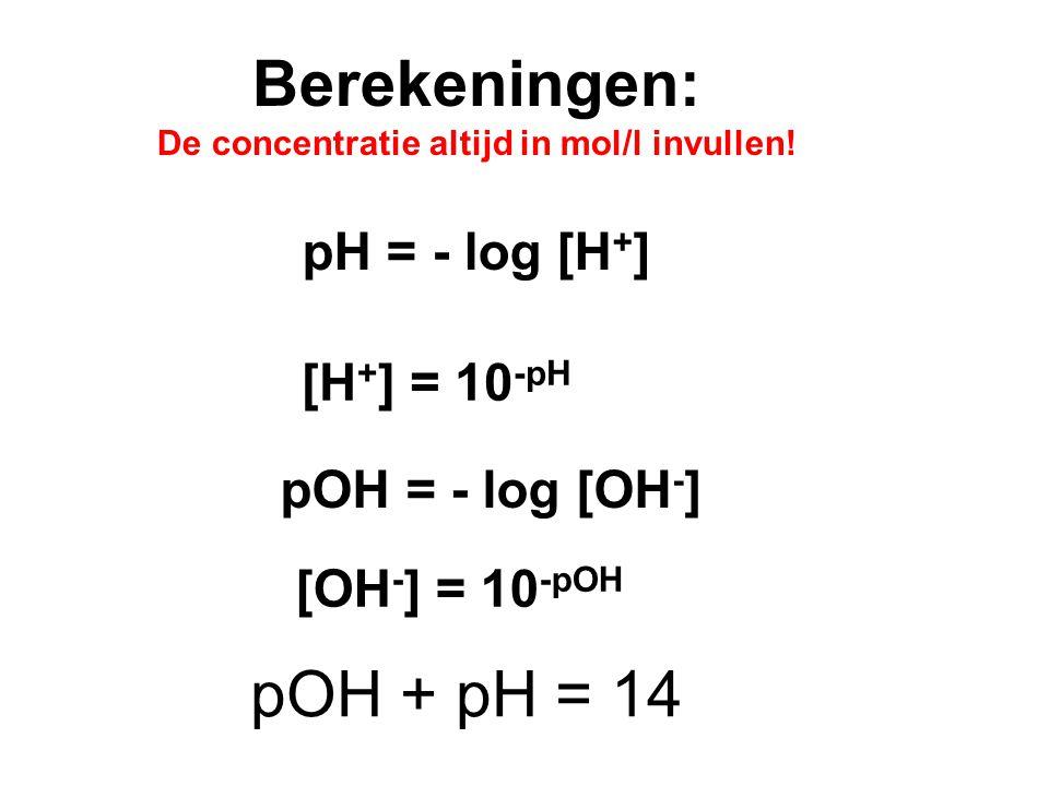 Stap 2: NH 4 + NH 3 + H + Bij het oplossen van ammoniumnitraat in water dan kan er een zuur ontstaan: Oplossen van een zwak zuur Stap 1: NH 4 NO 3  N