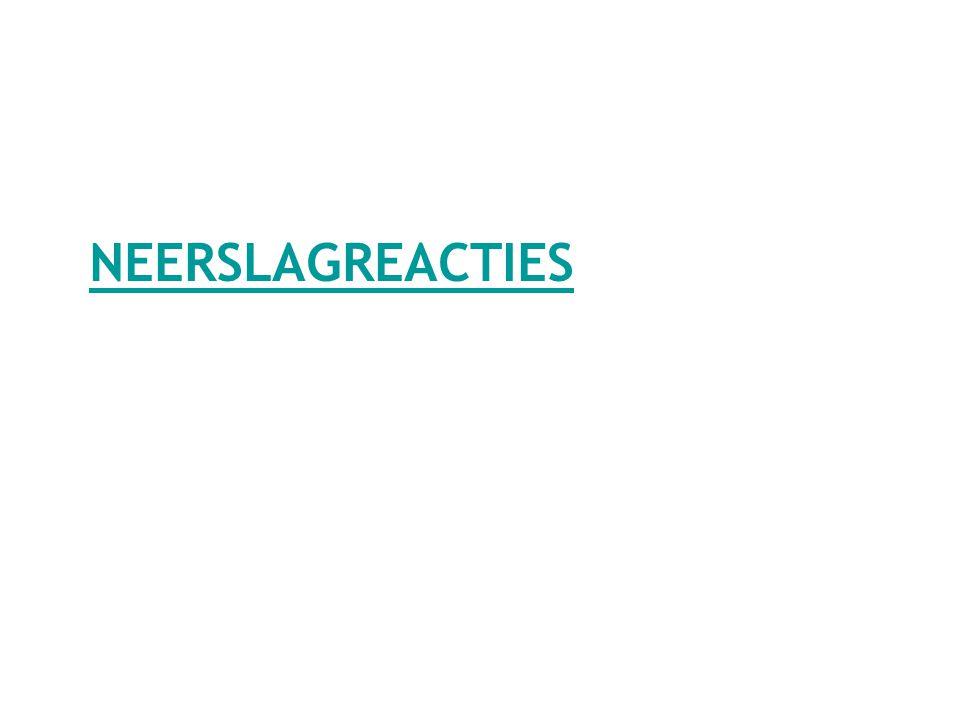 NEERSLAGREACTIES
