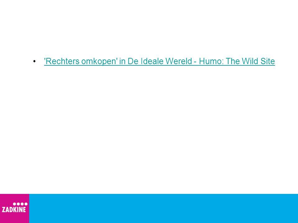 Rechters omkopen in De Ideale Wereld - Humo: The Wild Site
