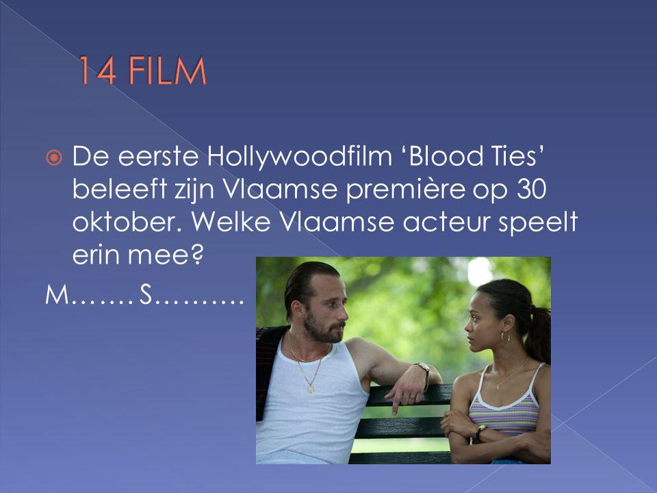  De eerste Hollywoodfilm 'Blood Ties' beleeft zijn Vlaamse première op 30 oktober.